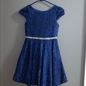 Beautiful blue holiday dress size 10